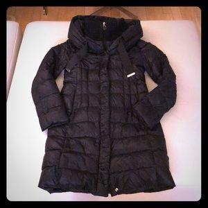 Tahari Black down coat